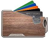 Fantom Wallet R 10 Walnut Finish Slim Minimalist RFID Aluminum Wallet