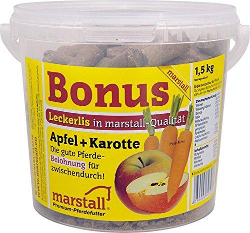 marstall Premium-Pferdefutter Bonus Apfel+Karotte, 1er Pack (1 x 1.5 kilograms)