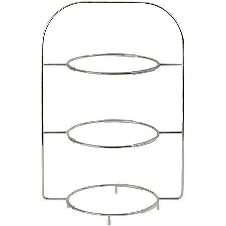 dreistufig  Etagere für Teller Körbe ∅ 22,5 cm 27 cm Telleretagere