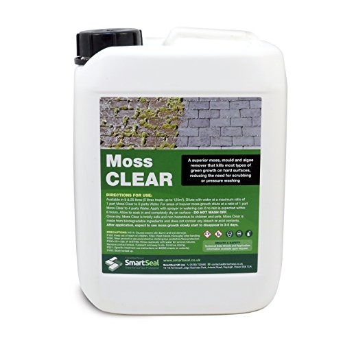 Smartseal Moss Remover - Highly effective moss, algae and mould remover for...