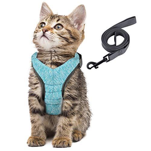 Simpeak Arnés para Gatos, arnés para Gatos con Correa a Prueba de Escape, arnés para Gatos arnés para Cachorros Suave, pequeño, Verde