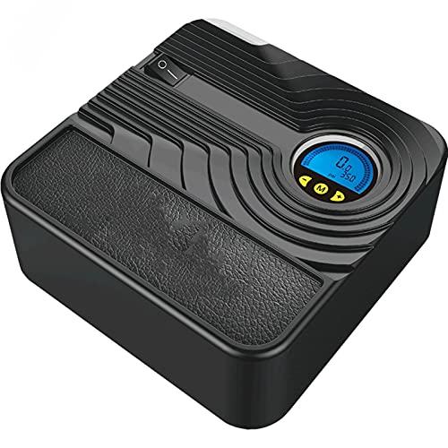 SXTYRL Aire Compresor, Pantalla Digital De Compresor De Aire Portátil, para Bicicleta De Automóvil, Motocicleta, Baloncesto, Negro