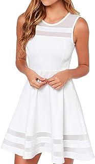 17d3bba74889 Amazon.es: Vestido Blanco Corto Fiesta: Ropa