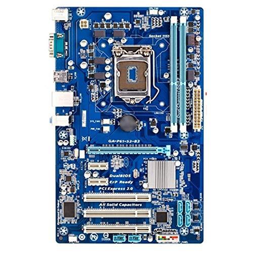 CHEN Gaming mainboard mit prozessor Fit Für Gigabyte GA-P61-S3-B3 Desktop-Motherboard H61-Sockel Fit Für LGA 1155 I3 I5 I7 DDR3 16G ATX P61-S3-B3-Mainboard
