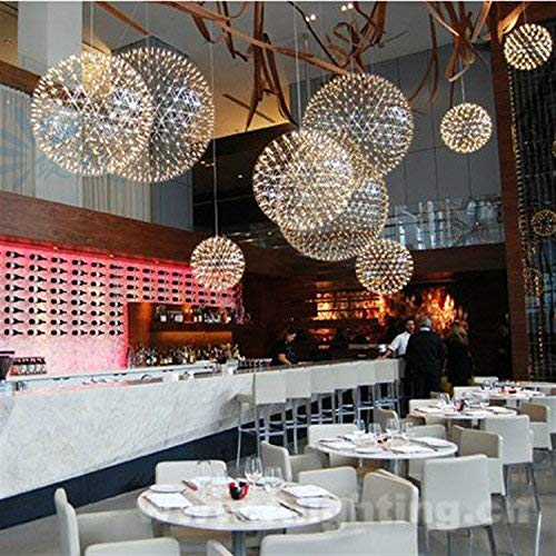 / Moderne minimalistische Kronleuchter/Edelstahl Anhänger/Creative Spark Spark LED Ball Lampen/Esszimmer Kronleuchter, Durchmesser 500mm