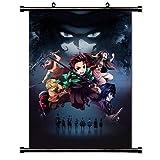 ROUNDMEUP Demon Slayer Kimetsu no Yaiba Anime Fabric Wall Scroll Poster (16x22) Inches