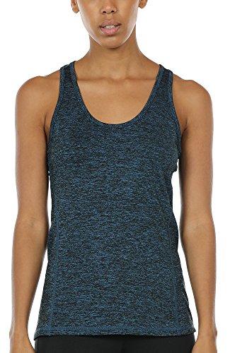 icyzone Tank Top Donna Canotta Sportiva - Running delle Donne Vest Yoga Wear da Maniche a Spalle Scoperte Formazione e Palestra Canotta (XS, Royal Blue)