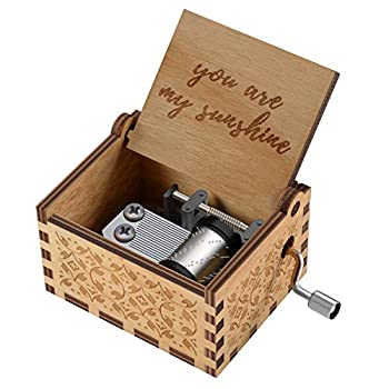 You are My Sunshine Wood Music Boxes,Laser Engraved Vintage Wooden Sunshine Musical Box Gifts for Birthday/Christmas/Valentine s Day  You are My Sunshine