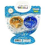 Hanukkah Musical Light-Up Dreidel Spinning Tops Set, Plays 2 Classic Hanukkah Songs, Assorted Colors (2-Pack)