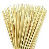 100 extralange Lagerfeuer Grillspieße 90cm x 6mm für Stockbrot, Marshmallows & Würstchen - strapazierbar & splitterfrei - aus reinem Bambus-Naturholz - auch super an Feuerschalen oder Grills