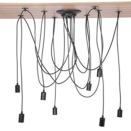 Lampenfassung, E27 Retro lampenaufhängung Antique DIY Kronleuchter Lampenfassung Retro Industrial für Dining Hall Schlafzimmer Hotel Home Lighting Zubehör (8 Köpfe)