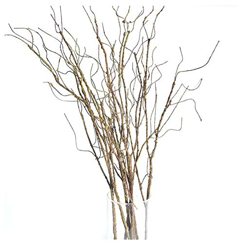 Pursuestar 5Pcs 29.5' Lifelike Dry Willow Branches Bendable Iron Wires Artificial Floral Flower Stub Stem DIY Craft Wedding Home Room Office Hotel Hall Decoration