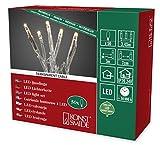 Konstsmide 6353-123 Micro LED Lichterkette / für Innen (IP20) / 24V Innentrafo / 50 warm weiße Dioden / transparentes Kabel