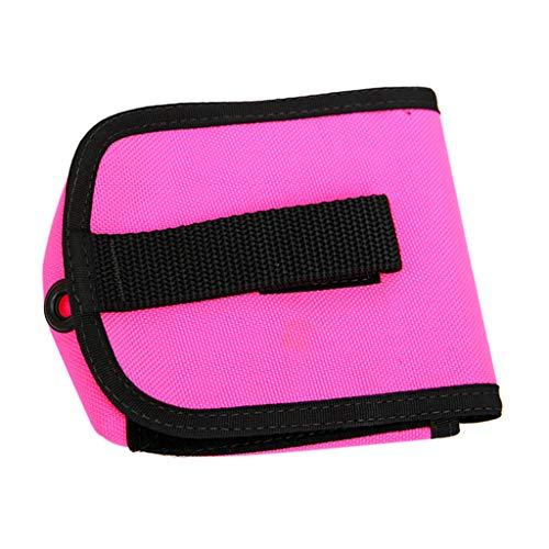 freneci Durable Bolsillo para Cinturón de Lastre de Buceo Soporte para Cables Subacuático Bolsa de Placa Trasera de 4 Libras - Rosado