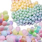 100pcs Globos Pastel Globos macarrón Pastel Color Globo con Bombas y anudadores para...