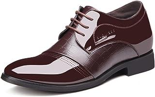[XINXIKEJI] ビジネスシューズ メンズ ドレスシューズ シークレットシューズ 4cmアップ 通気 防臭 軽量 耐久 防水 走れる 結婚式/入学式/卒業式/成人式/面接/就活 滑りにくい カジュアル 紳士靴 歩きやすい オシャレ ブラウン ブラック