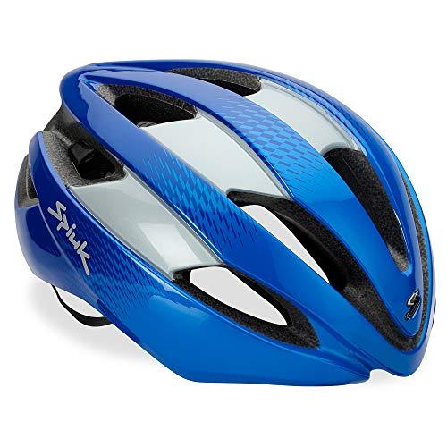 Spiuk Sportline Casco Eleo, Adultos Unisex, Azul/Plata, (M-L) 53-61