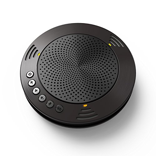 MeetEasy MVOICE 1000-B Bluetooth Speakerphone for Audio and Video Conferencing Compatible with Softphone Call (Black)