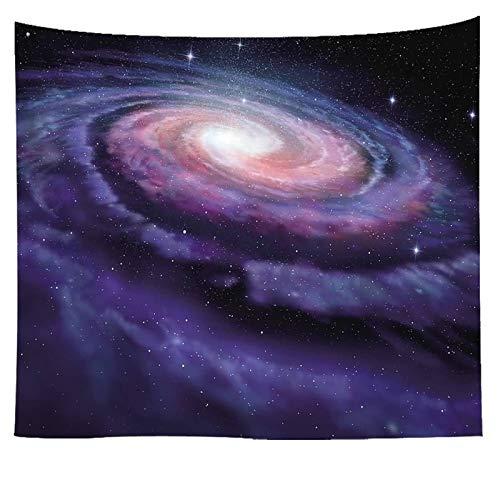 AueDsa Tapiz Poliéster,Cielo Estrellado Tapicería Sofá Púrpura y Negro Tapiz Pared 100x75CM