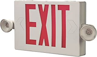 Cooper Lighting APC7G Self Powered Combination Exit Sign With LED Heads (2) LED White Housing Green Letter Sure-Lites