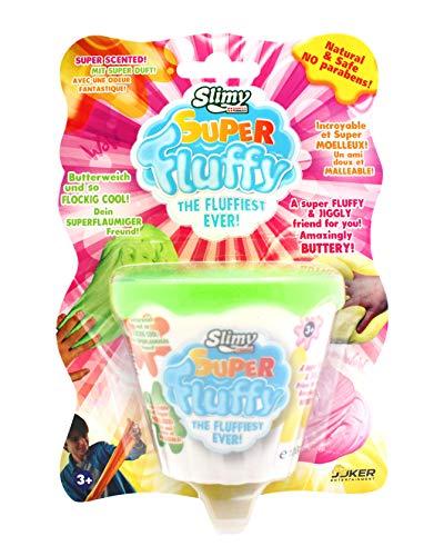 Joker Entertainment Sl33451 Super fluffiger Slimy, mit Duft, in Grün, Pink, Orange, Gelb