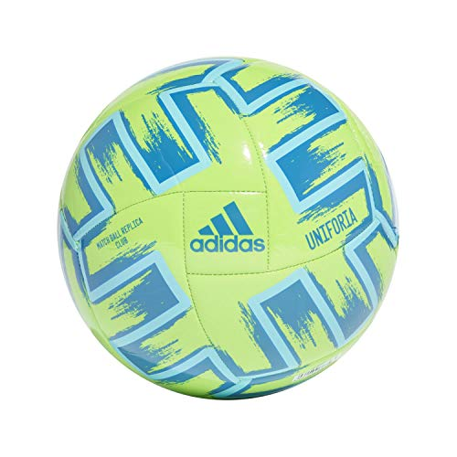 Adidas UNIFO CLB, Pallone da Calcio Uomo, Solar Green/Bright Cyan/Glory Blue, 4