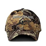 Custom Camo Baseball Cap E-3 Aircraft Name Embroidery Cotton Hunting Dad Hats for Men & Women Strap Closure Forest Tree Khaki Personalized Text Here