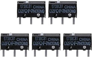 Siwetg - Micro interruptor de ratón D2FC-F-7N (10 m) para Logitech Button D2FC-F-7N (10 m)
