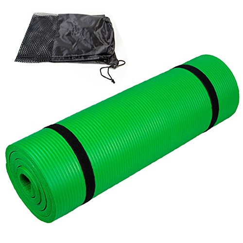 ANNITNIE Yoga Mat 15mm/20mm Extra Thick Lengthening Widening High Density Exercise Mat with Strap + Carry Bag