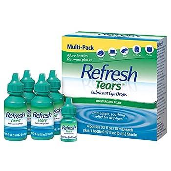Refresh Tears Lubricant eye drops 4x15 ml 1x5 ml