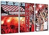 Ultras Düsseldorf, 3-Teiler Format: 120x80, Bild auf