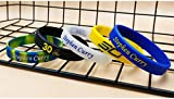 NBA Star Signature Bracelet Basketball Sports Silicone Wristbands Curry Fans Glow-out Sports Fan Bracelets (5 Colors)