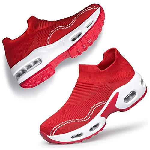 HAOSHIDUO Zapatillas de Tenis para Mujer y Calzado de Caminata para Mujer Flats Casuales Formales para Mujer