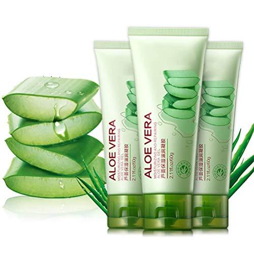Gel Hidratante Hidratante 60G, Crema Facial y Corporal Aloe Vera Gel Hidratante Reductor de Poros para Todo Tipo de Piel