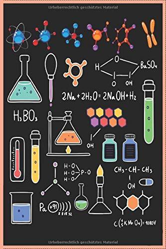 Chemie Labor Vorlesung Unterricht 120 Seiten Kariert Chemiker Notizbuch A5 (6x9 Zoll) Heft - Geschenk Für Chemie Studenten Kalender: Chemie Ist Wie Kochen Notizbuch