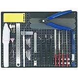 プラモデル工具セット ガンプラ工具 模型工具 プラモ工具 クラフトツール 23種類 (BK)