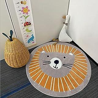 Cartoon Bear Area Rug Round Crawling Mat for Playing Nursery Rug, Carpet for Bedside, Living Room Decor, Playroom Rug Girl...