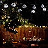 GNBHCP Lichterketten Lichterketten, Solar-Outdoor Gartenleuchten, 20 LED-Weihnachts Marokkanische...