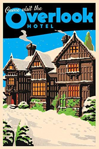 Come Visit The Overlook Hotel Horror Movie Vintage Travel Psychedelic Trippy Hippie Decor UV Light Reactive Black Light Eco Blacklight Poster for Room