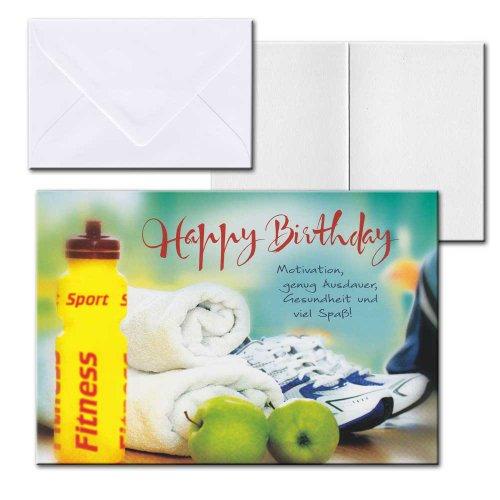 Cartolini Aufklappkarte Karte Sprüche Zitate Briefumschlag Geburtstag Sport 17,5x12 cm