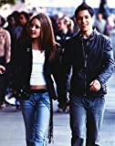 The Poster Corp Amanda Bynes Walking in Black Leather Jacket with Man Photo Print...