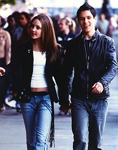 Amanda Bynes Walking in Black Leather Jacket with Man Photo Print (24 x 30)