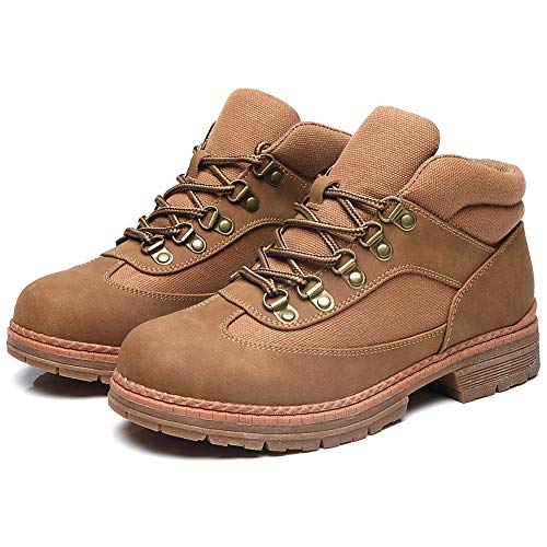 Cestfini Hiking Work Lace up Boots Women - Fashion Brown Ankle Boots for Women, Breathable Backpacking Boots, High Top Sneakers RTW08-CAMEL-7.5
