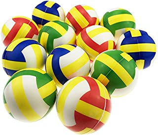 """Akusety Mini Sports Stress Balls Volleyballs Fun, 12-Pack Foam Ball 2.5"""" Relaxable Stress Relief Squeeze Balls"""