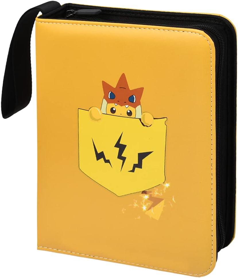 GBTENDO 4-Pocket Trading Card Binder with Sleeves,Pokemon Cards Binder...