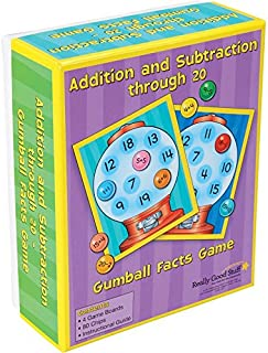 Really Good Stuff Addition and Subtraction Through 20 Gumball Facts Game