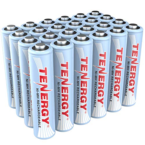Tenergy AAA Rechargeable Battery, High Capacity 1000mAh NiMH AAA Battery, 1.2V Triple A Batteries 24-Pack