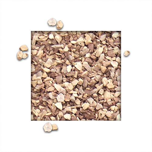 25 kg Kalksteinsplitt Grandsplitt Hellbeige Gartensplitt Ziersplitt Deko Dekoration Splitt Körnung 5/15 mm