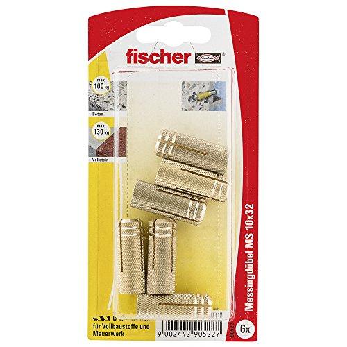 Fischer Messingdübel MS 10 x 32 K SB-Karte, 090522