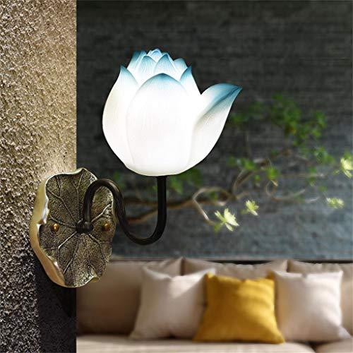 Applique bleue salon salle à manger chambre lampe de chevet allée balcon lumière de lotus